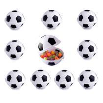 Pote de Lembranças festa Infantil Bola de Futebol Kit com 10 - Plasútil