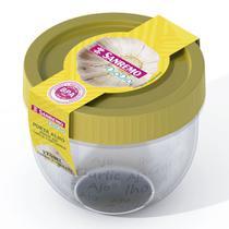 Pote de Plástico Redondo Alho 165mL Amarelo - Sanremo -