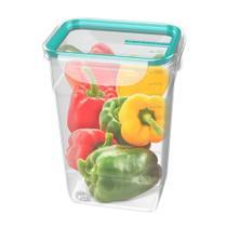 Pote De Plástico Retangular Fresh 1,4L Verde - Sanremo -
