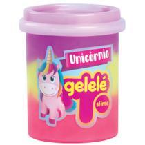Pote de Slime - 152 Gr - Gelele Unicórnio - 3 Cores - Roxo, Pinke Amarelo - Doce Brinquedo -