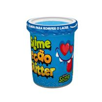 Pote de Slime Ecão - Glitter - Azul - DTC -