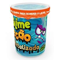 Pote de Slime Ecão - Metalizado - Azul - DTC -