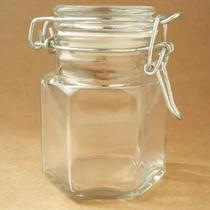 Pote de vidro hermético antiodor c/ trava- p/ temperos 100ml - Pote Para Mantimentos