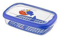 Pote FIAMBRES Plástico - 2,4 Litros-Cor Azul -SANREMO -