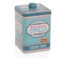 Pote para Açúcar Can de Metal Azul 10x10cm - Etna