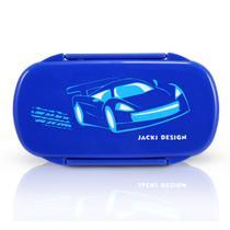 Pote para Lanche Sapeka Jacki Design Carro azul escuro -