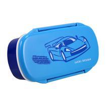 Pote para Lanche Sapeka Jacki Design Carro azul -