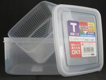 Pote Plástico com Escorredor p/ Queijo Mod. T  K-230 1,1L - Nakaya