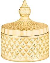Pote Potiche Decorativo 11cm Vidro Dourado - Mart