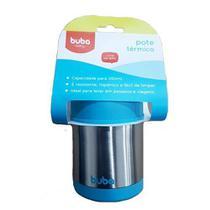 Pote Térmico Infantil Aço Inoxidável Azul - Buba -