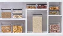 Potes Alimentos Mantimentos Organiza Cozinha Kit com 11 Peças acrílico retangular - Paramount