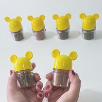 Potes De Temperos Amarelo para Lembrança de Chá de Cozinha - Mickey E Minnie Presentes