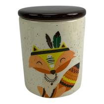 Potiche de Cerâmica 13cm com Tampa Apache Fox - Urban