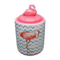 Potiche de Cerâmica Rosa Flamingo Lid Pequeno Urban -