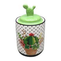 Potiche de Cerâmica Verde Cactus Lid Pequeno Urban -
