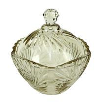 Potiche Lirica em cristal ecologico D11,5xA12cm cor verde - L Hermitage