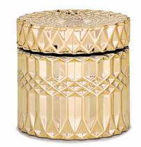 Potiche/Pote em Vidro Dourado Mart Collection 09661 -