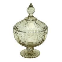 Potiche Versailles com pe em cristal D15,5xA24cm cor verde - L Hermitage