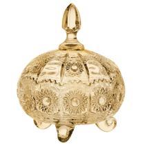 Potiche Versailles em cristal D18xA20 cor ambar - L Hermitage