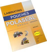 Pouch film 220x307 Milimetros Espessura 0,05 Polaseal Tamanho. A4 125 Micron  Pacote com 50 plásticos - Prolan