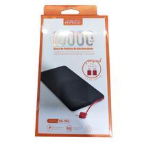 Power Bank Carregador Portátil Kaidi 10000 Mah Slim Kd-951 - PRETO / AMARELO -