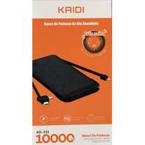 Power Bank Kaidi - KD 233 10.000 mAh - Tres saídas -