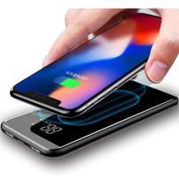 Power Bank Qi Fast Sem Fio Display Digital Baseus 8000mah Carregador Portátil Sem Fio Indução Baseus -
