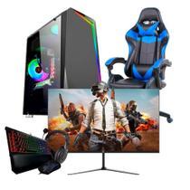 "Power Gaming Pc I5 8gb de Ram Sdd 120 Gb Kit Gamer Monitor 23.8"" 75hz e Cadeira Gamer - CORPORATE"