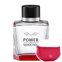 Power of Seduction Antonio Banderas EDT - Perfume Masculino 200ml+Beleza na Web Pink - Nécessaire