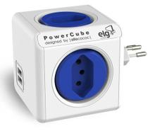 PowerCube Original PWC-R4U ELG Azul 4 Tomadas + 2 USB -