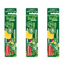 Powerdent Palmeiras Escova Dental Macia + Protetor (Kit C/03) -