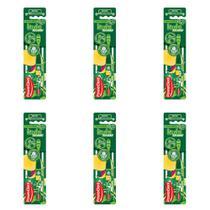 Powerdent Palmeiras Escova Dental Macia + Protetor (Kit C/06) -