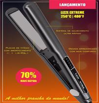 Prancha (127v) Lizze Extreme 250ºc - 480ºf - Titanium Profis -