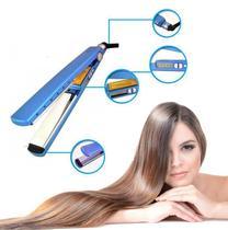 Prancha Chapinha Para Cabelos - Azul - Global