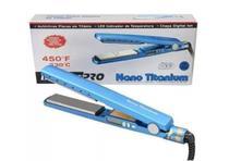Prancha de Cabelo Chapinha Alisador Titanium Modelador Profissional Bivolt Azul -