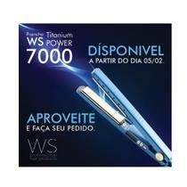 Prancha Titanium Power 7000  Bivolt Azul - Ws -