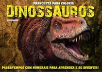 Prancheta para colorir - dinossauros - numerais - On Line