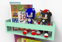 Prateleira Candy Color Nicho Livros Infantil Quarto Colorida 40cm