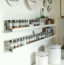Prateleira Decorativa Porta Temperos Condimentos 50cm em MDF - Pabimi