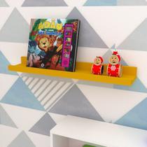 Prateleira Livros de Parede em U Decoração Infantil Amarelo - Peglev