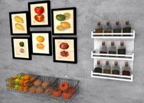 Prateleira MDF Porta Temperos Branca 40 x 50 x 10 cm - Mobes - Mobes Design