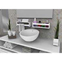 Prateleira nicho para banheiro cosmético para decoração com kit de instalação fred planejados -