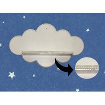 Prateleira Nuvem Decorada com Perola Tam M 40x21x11 Cm Branca  Mandiali -