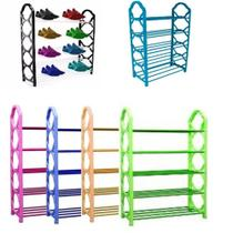 Prateleira organizador multiuso sapateira ate 10 pares grande estante 5 prateleiras 20 sapatos vertical - MAKEDA