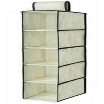 Prateleira organizadora 5 divisórias para organização de armario guarda roupa closet flexivel - Kangur