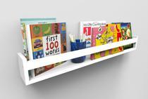 Prateleira para Livros Preta 60 x P 10 x A 10 cm - Bramov