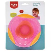 Pratinho Bebê Bowl Rosa com Ventosa Buba - Buba toys