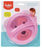 Pratinho Bebê Com Divisória Ursinho Rosa - Buba - Buba Toys