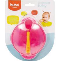 Pratinho Para Bebe Crianca Bowl Com Fixador Sem Bpa Prato Buba Baby Pote com ventosa para bebe. -