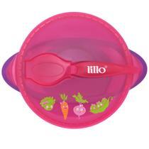 Prato com Ventosa Design Rosa - Legumes - Lillo -